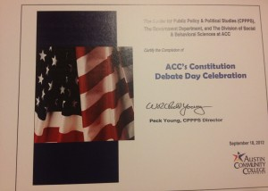 ACC's Constitution Day event, September 18, 2012