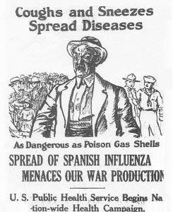 Not credited. May be work of U.S. Public Health Service (1918 ad) [Public domain], via Wikimedia Commons