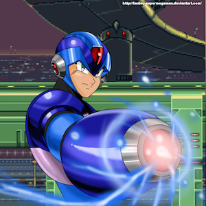"""MEGAMAN X STAGE 1"" by fanboy-supermegaman [CC BY 3.0 (http://creativecommons.org/licenses/by/3.0/)], via deviantART"