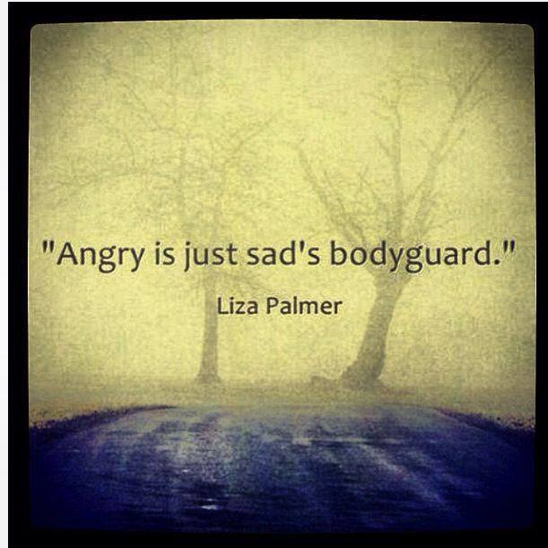 'Angry is just sad's bodyguard.' Liza Palmer